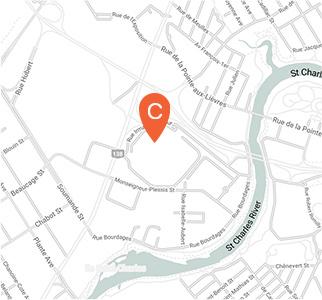 Carte interactive de la localisation du Site Hamel (centre administratif)